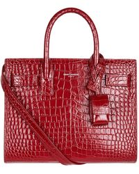 Saint Laurent - Nano Croc Sac De Jour Tote Bag - Lyst