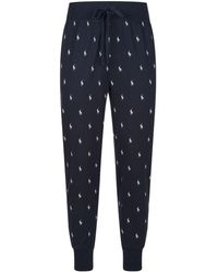 Polo Ralph Lauren - Cotton Polo Rider Lounge Trousers - Lyst