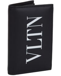 Valentino - Logo Folding Card Holder - Lyst