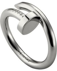 Cartier - White Gold Juste Un Clou Ring - Lyst