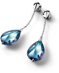 Baccarat - Silver And Crystal Fleurs De Psydlic Stud Earrings - Lyst