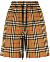Burberry - Vintage Check Shorts - Lyst