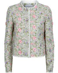 Giambattista Valli - Floral Tweed Jacket - Lyst