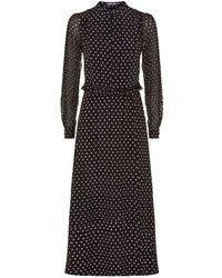 Markus Lupfer - Alannah Star Print Midi Dress - Lyst