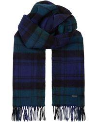 BOSS - Tartan Wool Scarf - Lyst
