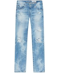 AG Jeans - Ripped Slim Fit Jeans - Lyst
