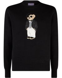48029a08392 Lyst - Gucci Bear Wool Jacquard Sweater in Pink for Men