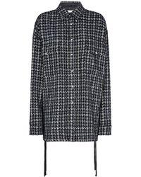 Faith Connexion Tweed Overshirt - Black