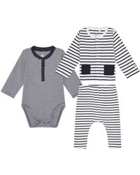 Petit Bateau - Newborn Bodysuit, Leggings And T-shirt Set - Lyst