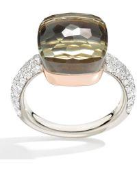 Pomellato - Nudo Prasiolite And Diamond Maxi Ring - Lyst