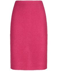 St. John - Textured Knit Pencil Skirt - Lyst