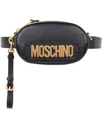 Moschino - Leather Logo Belt Bag - Lyst