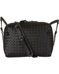 Bottega Veneta Nodini Intrecciato Leather Cross-body Bag in Natural ... d9fb00088ebfa