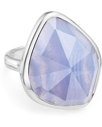Monica Vinader - Siren Nugget Blue Lace Agate Cocktail Ring - Lyst