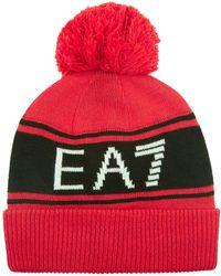 Armani - Logo Beanie Hat - Lyst