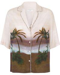 Sandro - Embellished Print Shirt - Lyst