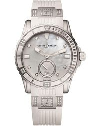 Ulysse Nardin - Stainless Steel And Diamond Lady Diver Watch 40mm - Lyst