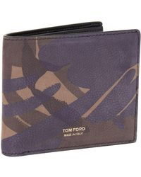 Tom Ford - Camouflage Bifold Wallet - Lyst