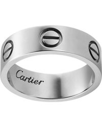 Cartier - White Gold Love Ring - Lyst