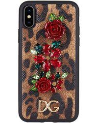 Dolce & Gabbana - Leopard Print Iphone X Case - Lyst