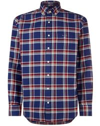 GANT - Cotton Check Print Shirt - Lyst