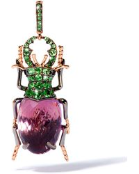 Annoushka - Rose Gold And Amethyst Beetle Charm - Lyst