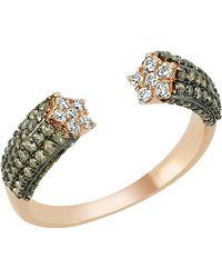 Bee Goddess   Star Light Diamond Ring, Brown, One Size   Lyst