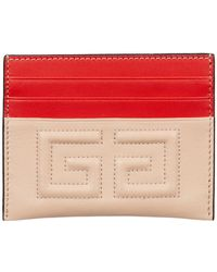 Givenchy - Leather 4g Card Holder - Lyst