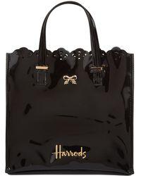 Harrods - Small Vintage Lace Shopper Bag, Black - Lyst