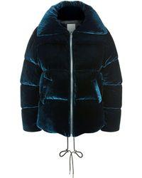 Sandro - Velvet Padded Jacket - Lyst