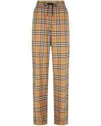 Burberry - Haymarket Check Drawstring Trousers - Lyst