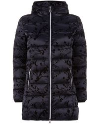 Armani - Quilted Floral Parka - Lyst