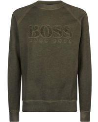 BOSS Orange - Towelling Logo Sweatshirt - Lyst