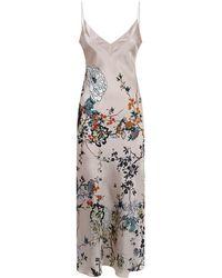 Meng - Printed Silk Slip Dress - Lyst