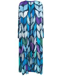 Pleats Please Issey Miyake - Abstract Print Pleated Cardigan - Lyst