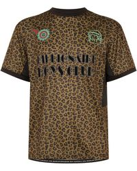 BBCICECREAM - Leopard Print Sports T-shirt - Lyst