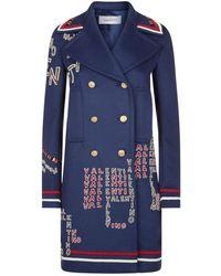Valentino - Archive Logo Wool Coat - Lyst