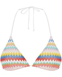 Missoni - Zig Zag Triangle Bikini Top - Lyst
