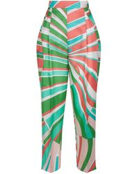 2436b96a98aa Lyst - Women s Emilio Pucci Trousers Online Sale