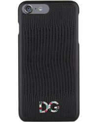 Dolce & Gabbana - Grained Dauphine Leather Iphone 7 Case - Lyst