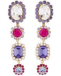 Dolce & Gabbana - Crystal Embellished Earrings - Lyst