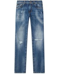Dolce & Gabbana - Distressed Classic Jeans - Lyst