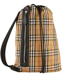 Burberry - Medium Check Duffle Bag - Lyst