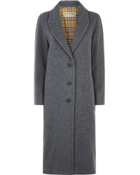 Burberry - Tailored Wool Coat - Lyst