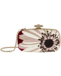 Valentino - Flower Minaudire Clutch Bag - Lyst