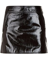 Saint Laurent - Patent Leather Mini Skirt - Lyst
