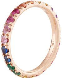 Sydney Evan - Rose Gold Rainbow Eternity Ring - Lyst