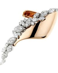 YEPREM - Rose Gold Asymmetric Ring - Lyst