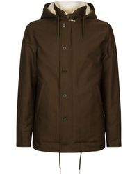Sandro - Hooded Shearling Lined Jacket - Lyst