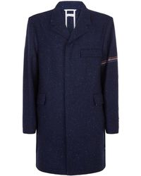 Thom Browne - Chesterfield Arm Stripe Overcoat - Lyst